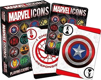Marvel Juego de cartas Vengadores Logo iconos 52501: Amazon ...