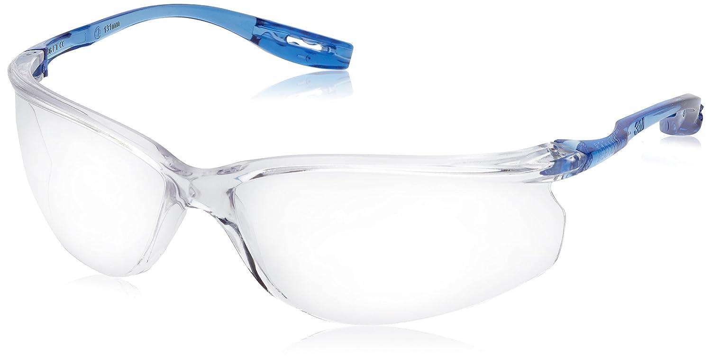 CCS - Lunettes de s/écurit/é incolores en polycarbonate sans monture avec branches bleues Anti-bu/ée 3M Tora 1 pi/èce anti-rayures et anti-UV