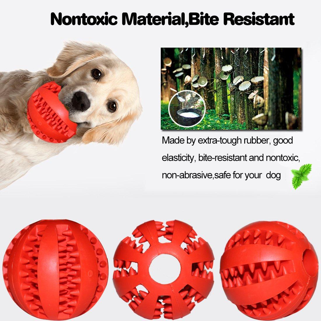 Non tossico Giocattolo morso Resistente Palla per Cani da Compagnia Cibo per Cani Trattare Alimentatore Dente Pulizia Palla Idepet Cane Giocattolo Palla