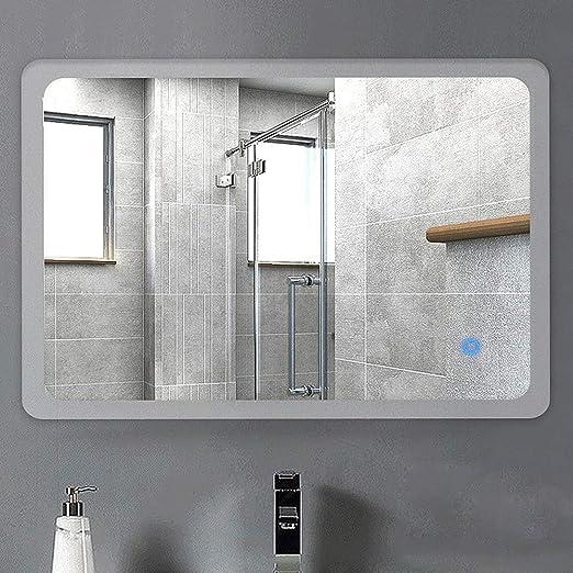 JFFFFWI Luz de Espejo de baño LED iluminada con Sensor + desempañador (tamaño: 60 cm * 80 cm): Amazon.es: Belleza