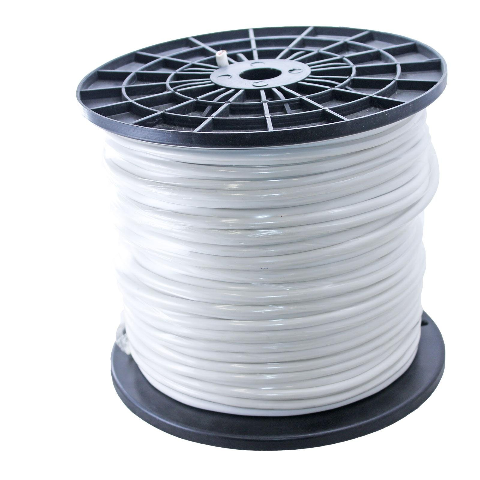 500ft Spool of 20awg Balanced Pro Audio Mic Microphone Wire for XLR TRS 2 3 Conductor White