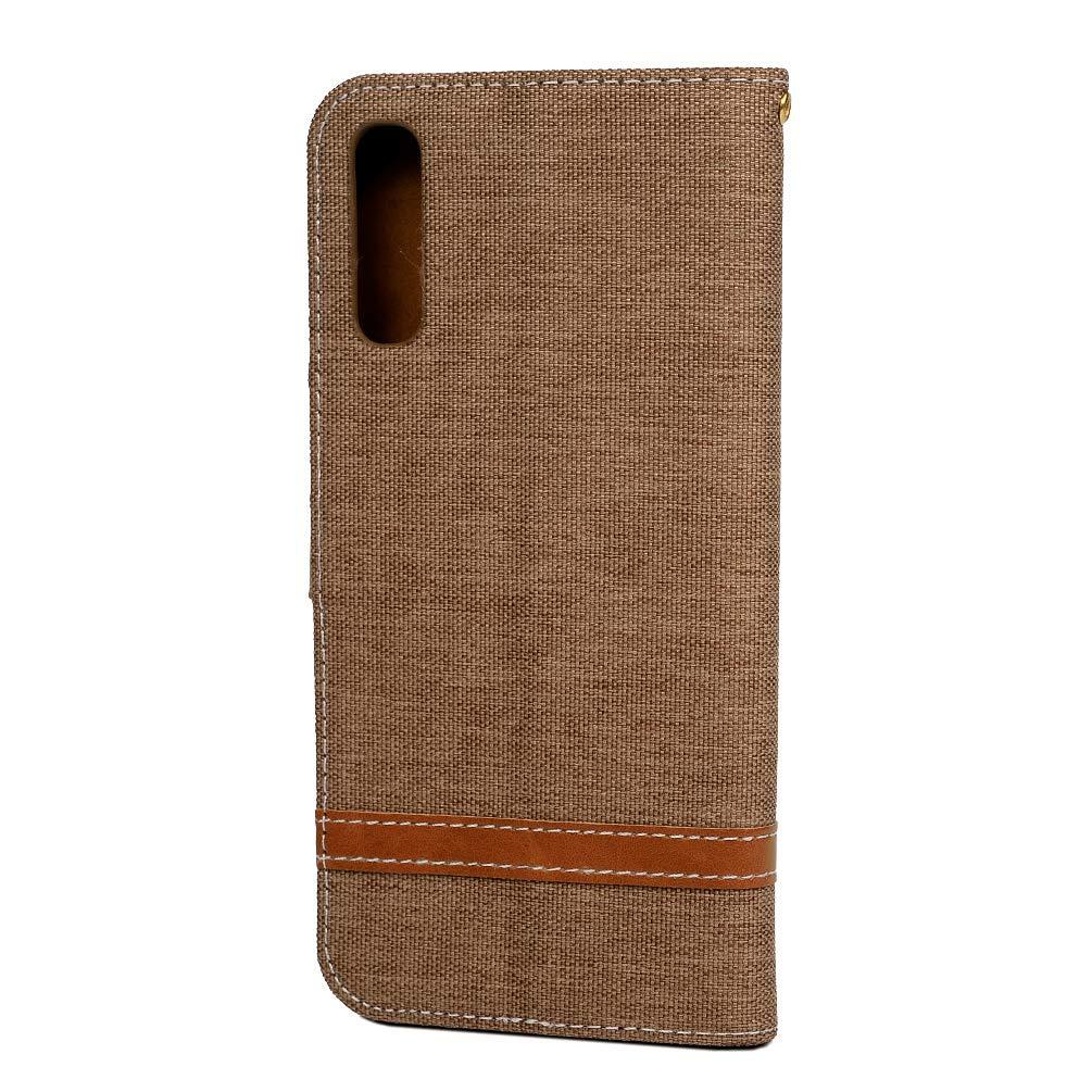 Einfarbiger Flip PU Leder Handyh/ülle Klappbares Brieftasche Schutzh/ülle Stand Wallet Case Cover Tasche mit Karteneinschub Brown MLorras H/ülle f/ür Samsung Galaxy A50