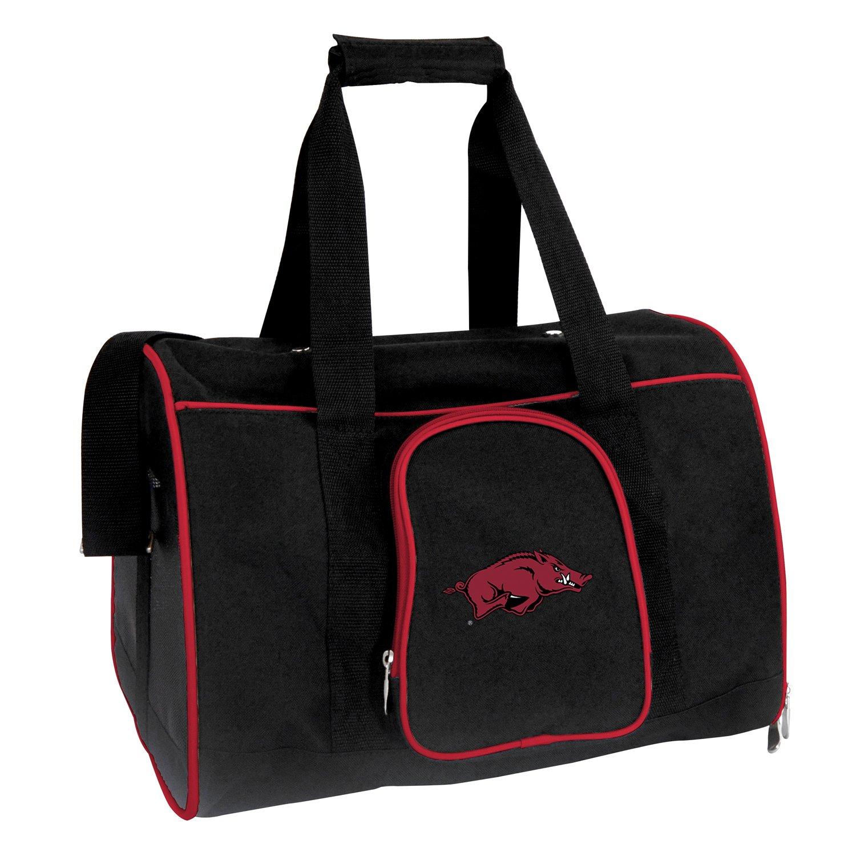 Denco NCAA Arkansas Razorbacks Premium Pet Carrier