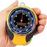 Ezyoutdoor 4 in1 Digital Altimeter Baromete Compass Thermometer Navigator Compasses North Arrow Carabiner for Travel Backpacking Picnik Climbing Outdoor Camping Hiking