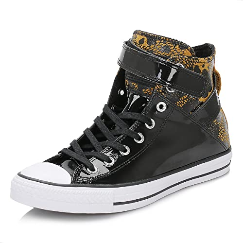 6799f7761004e7 Converse Womens All Star Brea Hi Anti Black Leather Trainers 4 UK   Amazon.co.uk  Shoes   Bags