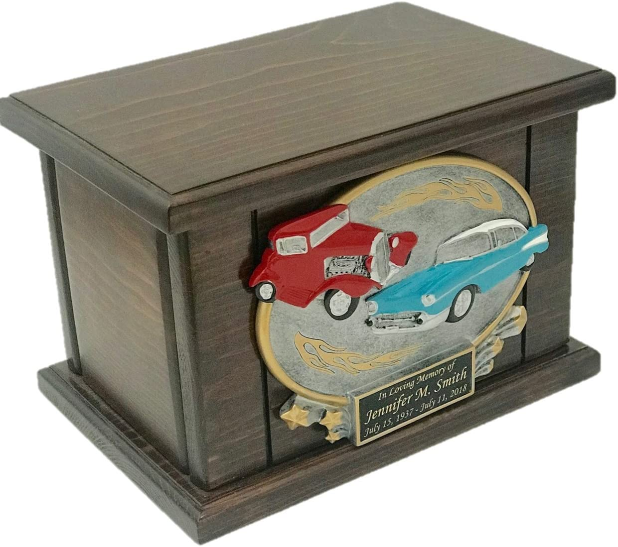 Wooden Funeral Urn Wood Urn Car Urn Classic Cars Urn with Engraving NWA Car Lovers Cremation Urn