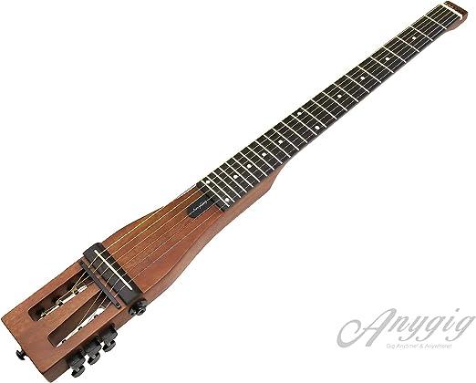 Anygig AGSSE - Guitarra acústica de Acero con Funda de Transporte ...