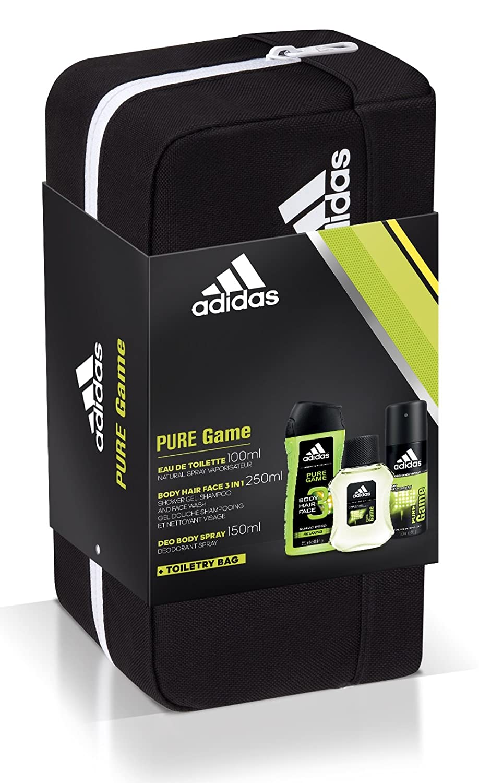 268ce7557447 Adidas Pure Game Eau de Toilette 100 ml + Deodorante 150 ml + Gel Doccia  250 ml + Trousse da Toilette Uomo: Amazon.it: Bellezza