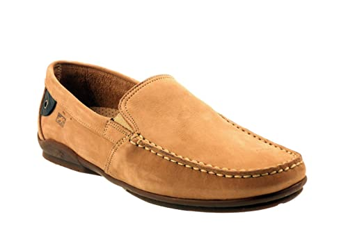 Fluchos - Mocasines para Hombre, Gris (Piedra Nubuck), 45: Amazon.es: Zapatos y complementos