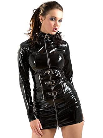 bd568e7753 Honour Women s Jacket in PVC Buckle Front Punk Style Roleplay ...
