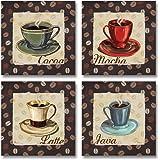 Cup Of Joe Vintage Coffee Art Print Posters By Paul Brent 12 X 12