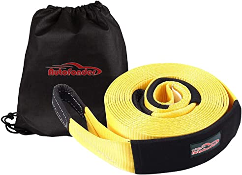 30,000lb Rated Capacity Heavy Duty Vehicle Tow Strap with Reinforced Loops 6pk 8 x 1 XSTRAP 3 x 30 Heavy Duty Tow Strap Protective Sleeves Storage Bag