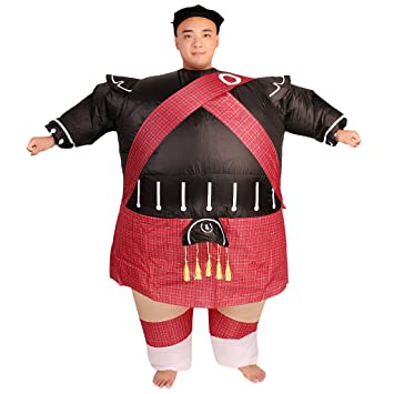 Inflatable Warrior NINJA Costume Fancy Dress Hen Stag Night Outfit
