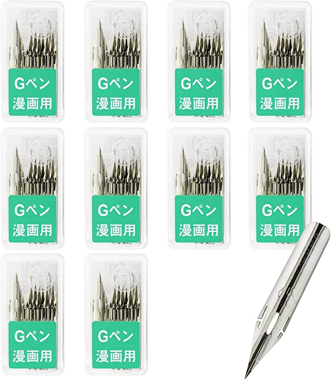 New Zebra G Pen Manga Pen Chrome Nibs 100 Pieces PG-6C-C-K