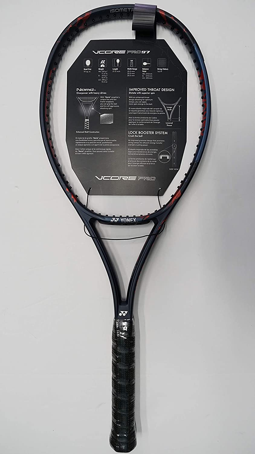 Amazon.com : Yonex Vcore Pro 97 310g Tennis Racquet, Free Synthetic Gut String (#2 [4 1/4]) : Sports & Outdoors