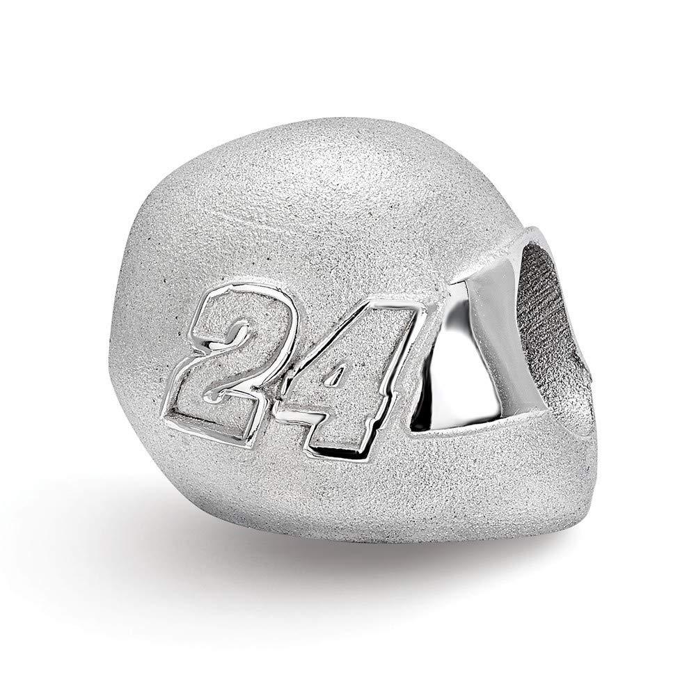 Roy Rose Jewelry Sterling Silver LogoArt NASCAR Bead Helmet Driver #24