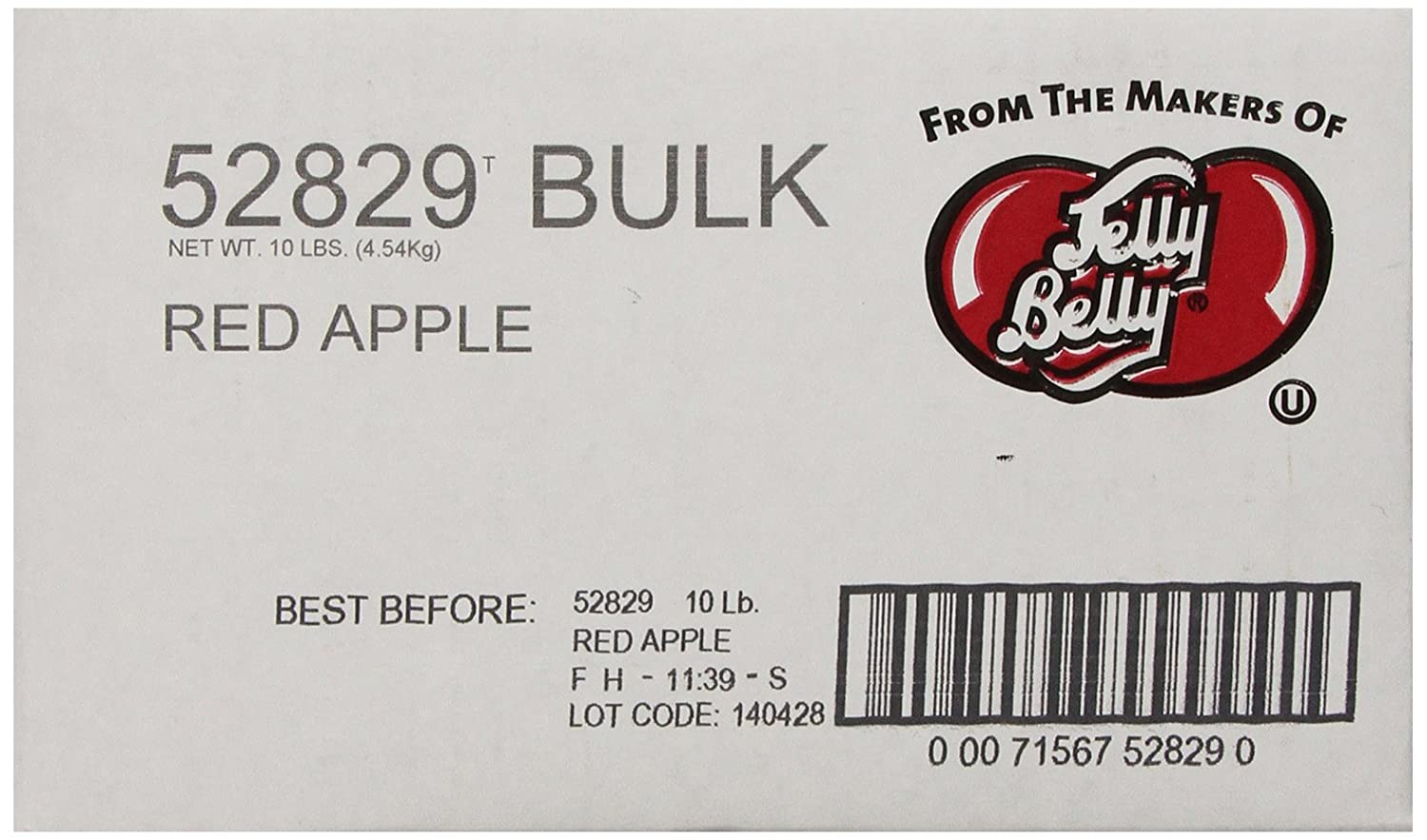 Jelly Belly Red Apple Jelly Beans, 10-Pound Box