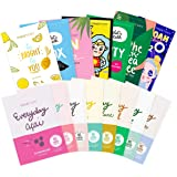 FaceTory Best of Seven and Everyday Facial Sheet Mask Collection Bundle- Hydrating, Brightening, Refreshing, Calming (15…