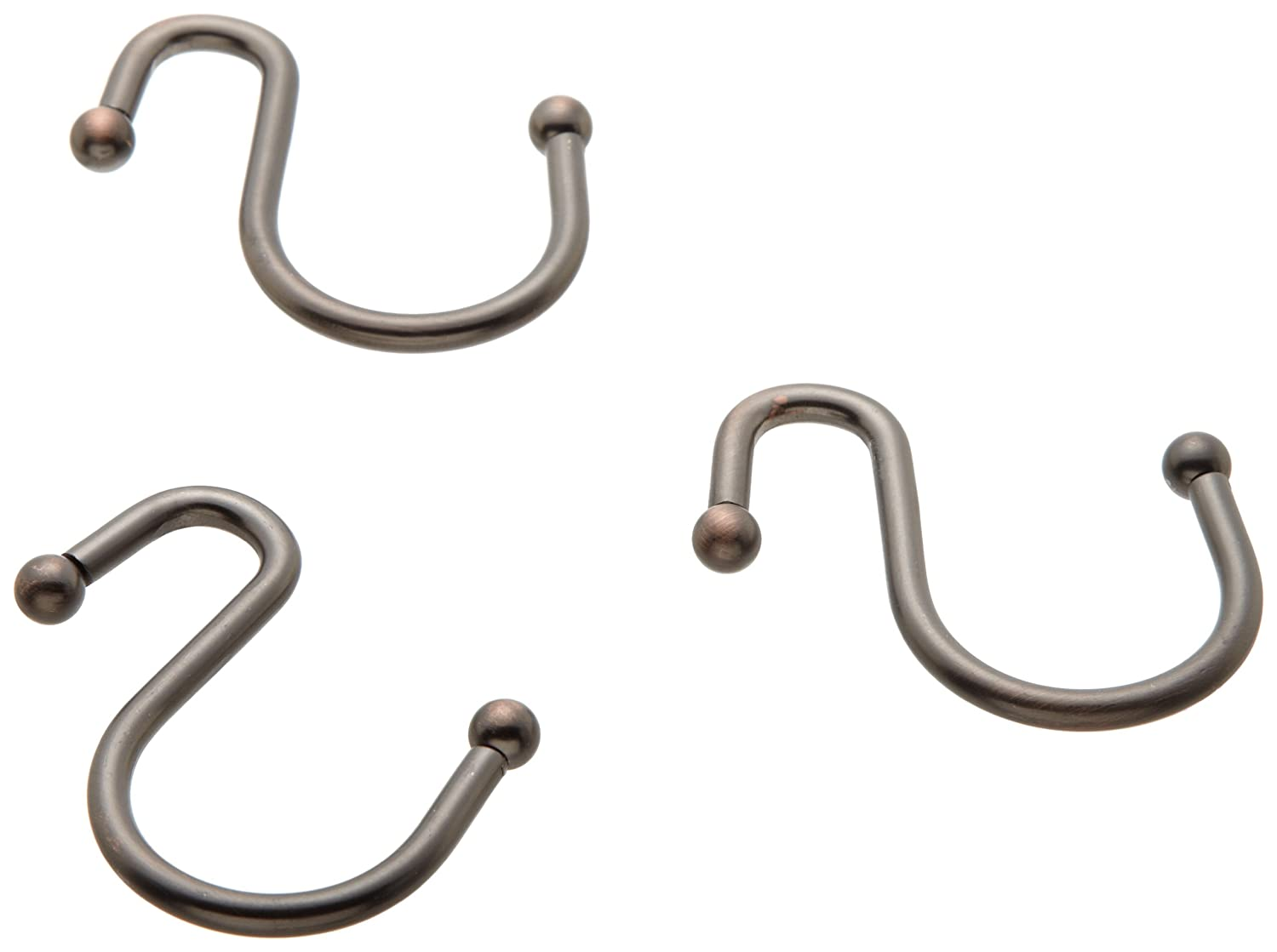 Amazon Carnation Home Fashions Inc S Type Metal Shower Curtain Hook Oil Rubbed Bronze Kitchen