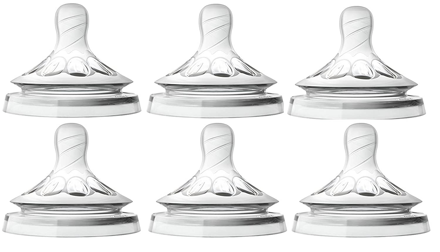 Philips Avent Natural Nipple Newborn Flow - 6 Pack SCF651-27