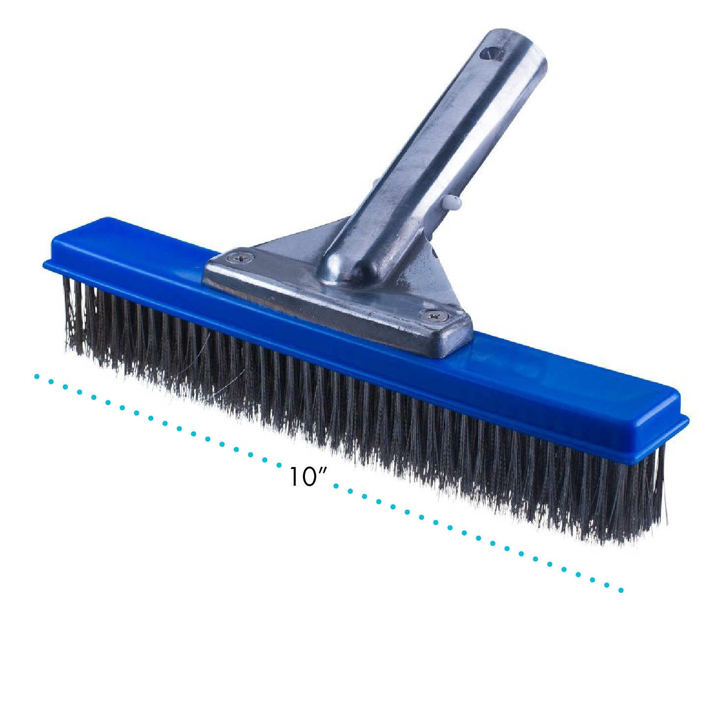 Milliard 10'' Wide Heavy Duty Wire Pool Algae Brush, Designed Concrete Gunite Pools Walkways, Great on Extremely Tough Stains