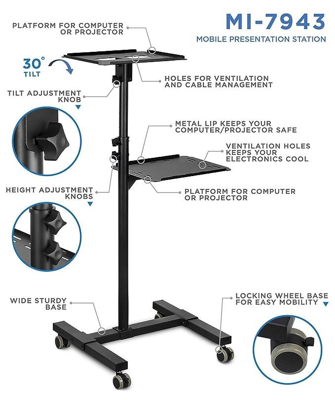 Amazon.com: Mount-It! Soporte móvil: Office Products