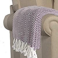 AVIONI Cotton Sofa Throws/Blankets (Purple)