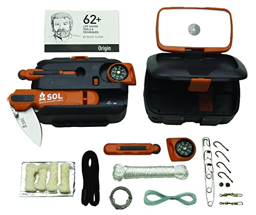 S.O.L Survive Outdoors Longer Origin, Multi-Function Ultimate Survival Tool, Waterproof & Lightweight Case