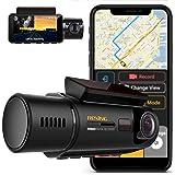 Rexing V3 Frente Dual Camera e cabina de infravermelhos Night Vision Full HD 1080p WiFi GPS, Estacionamento Monitor e Kingsto