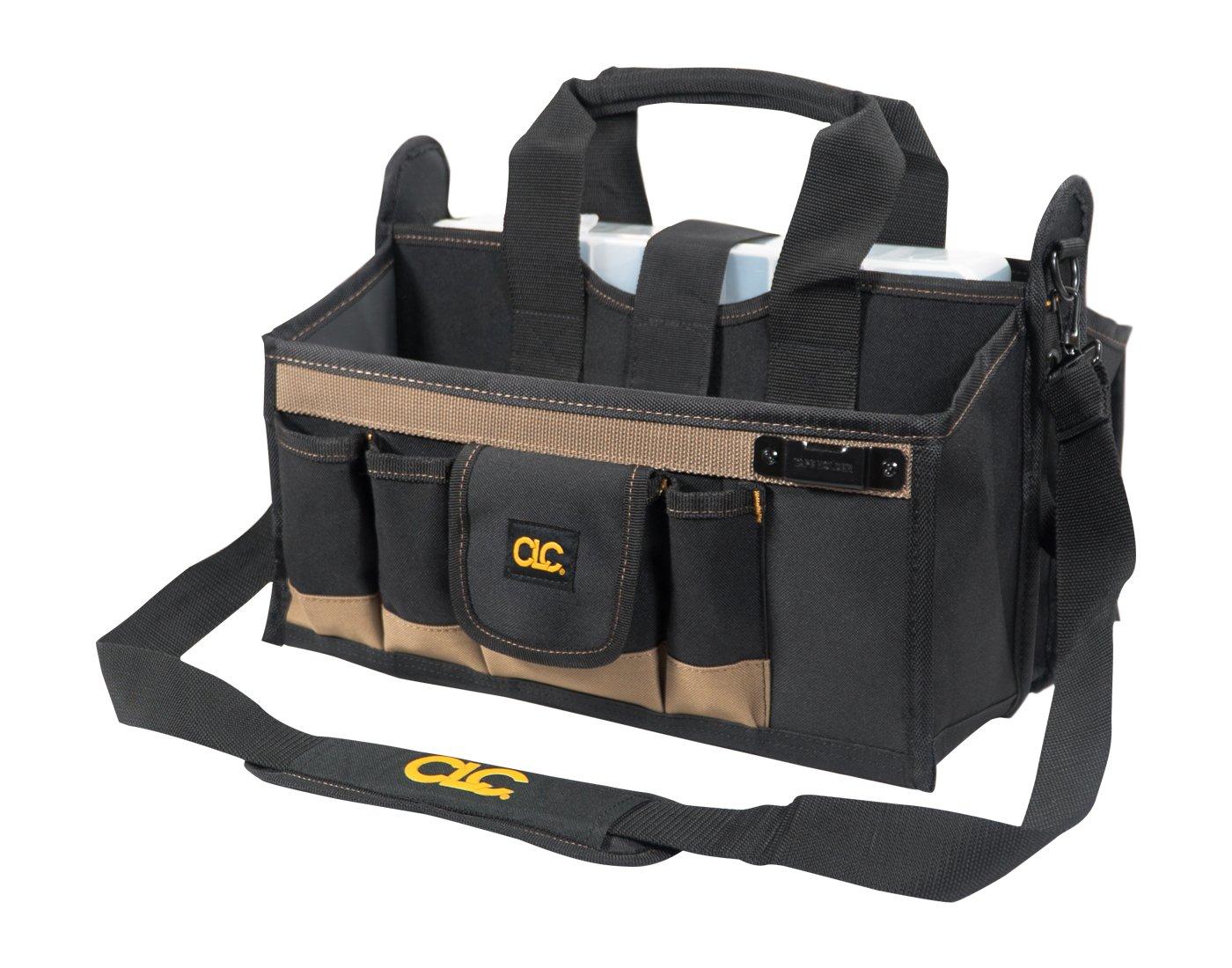Custom Leathercraft Custom LeatherCraft 1529 16-Pocket, 16-Inch Center Tray Tool Bag by Custom Leathercraft