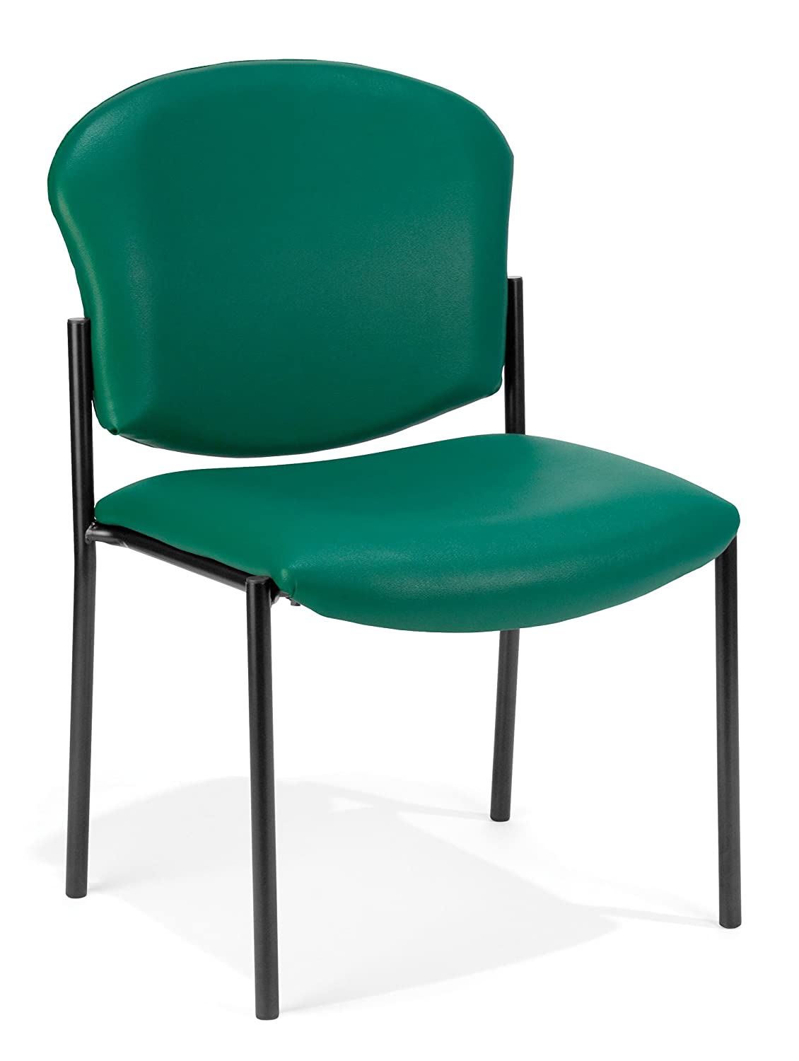 OFM Armless Stack Vinyl Chair, Teal