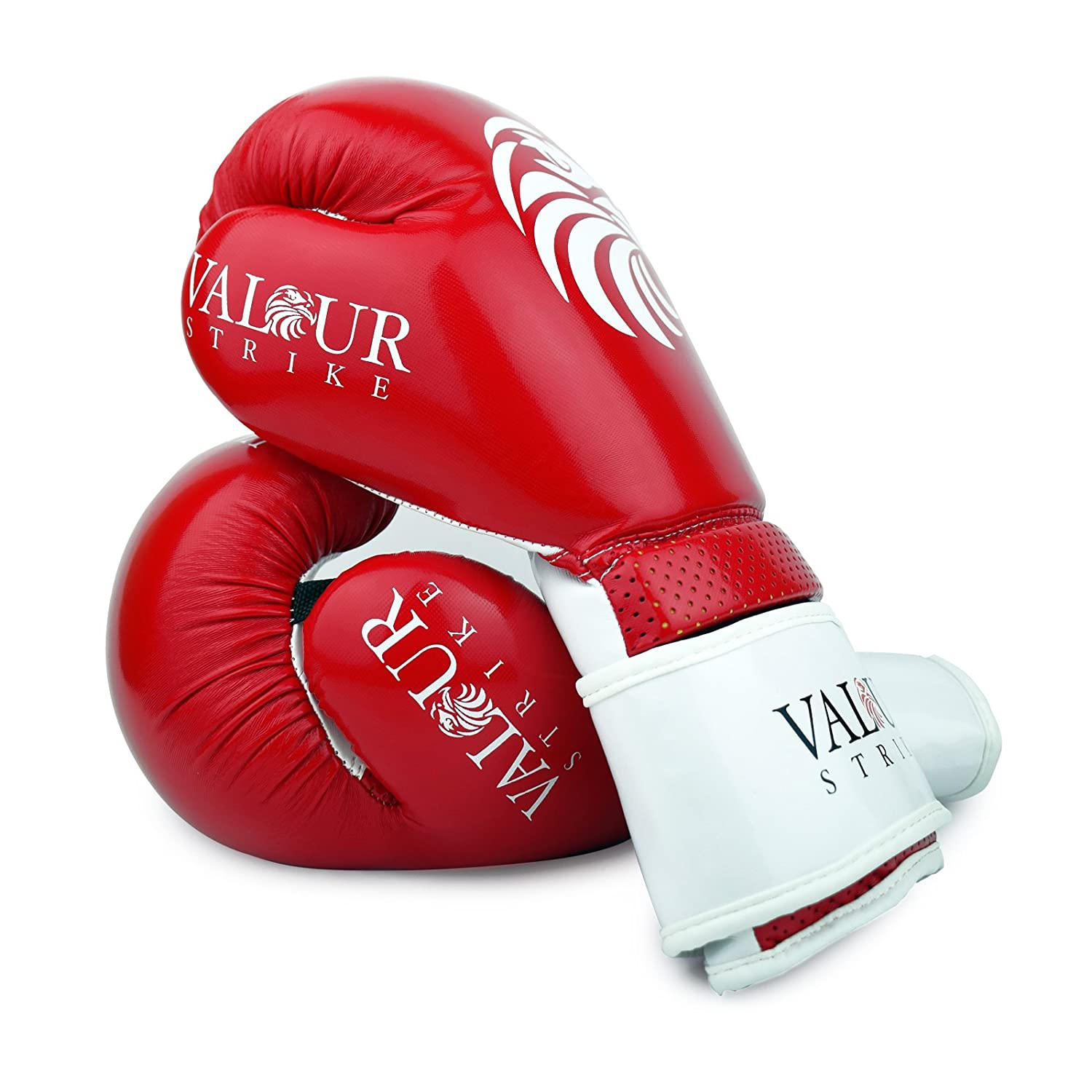 16oz Punch Bag Sparring Fight MMA Muay Thai Grappling Fight Mitts Martial Arts Training Kickboxing Punching Glove ★ Valour Strike Red Paw Boxing Gloves ★ 4oz