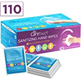 Care Touch Antibacterial Hand Sanitizer Wipes – 110 Individually Wrapped Packets