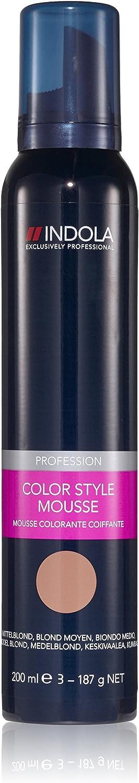 Indola Color Style Mousse - Laca de color para el pelo, 1 unidad (1 x 200 ml)