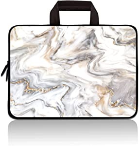 11 11.6 12 12.1 12.5 inch Laptop Carrying Bag Chromebook Case Notebook Ultrabook Bag Tablet Cover Neoprene Sleeve for Apple MacBook Air Samsung Google Acer HP DELL Lenovo Asus (Marble)