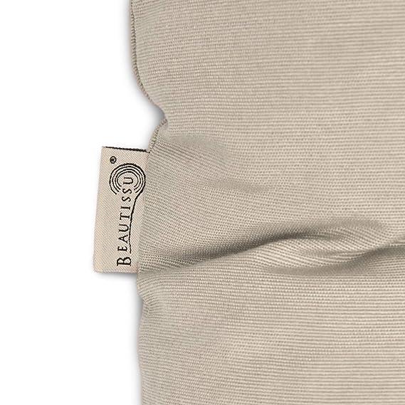 Beautissu Cojines para palés Eco Style - Cojín de Asiento 120x80x15 cm - Color: Natural - Cojín: Asiento