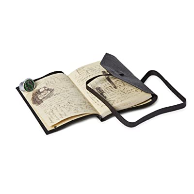 Underground Toys Doctor Who Journal of Impossible Things Journal with Masters Ring Set - Features Leather-Style Cover with Blank & Printed Pages - Adjustable Ring - Seen On End of Time Episode: Toys & Games
