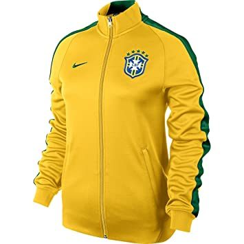 more photos 1e2fd cbd94 Nike veste n98 track veste de survêtement brésil cBF M Jaunenoir - Jaune