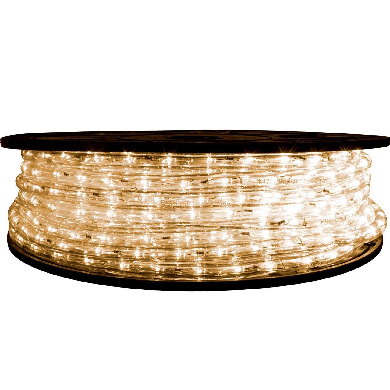 Brilliant Brand Lighting Warm White LED Rope Light - 120 Volt - 65 Feet