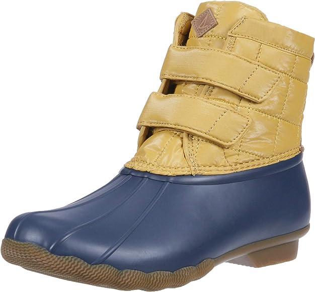 Saltwater Jetty Snow Boot, Yellow/Navy