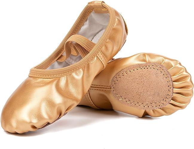 Amazon.com: Barerun - Zapatillas de ballet de piel para ...