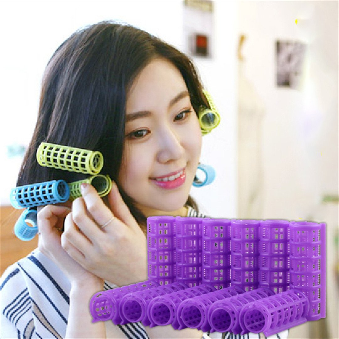 Hair Curlers DIY Hair Salon Curlers Rollers Tool Soft Large ing Tools Plastic 6/8/10/12Pcs 6pcs by HAHUHERT (Image #3)