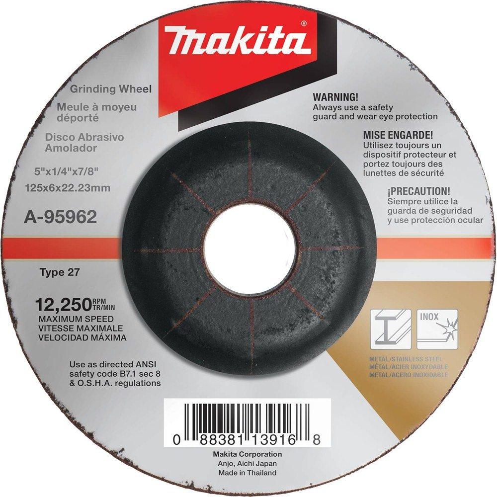 Makita A-96001 36 Grit Hubbed INOX Grinding Wheel, 6' x 1/4' x 5/8'-11' 6 x 1/4 x 5/8-11