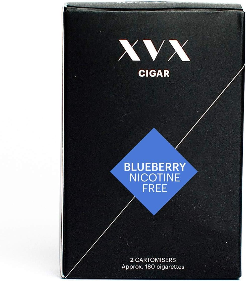 XVX CIGAR Refill Electronic Cigar Refill Blueberry Flavour 1800 Puffs Per 2 Pack 900 Puffs Per Cartridge E Cigarette E Cigarettes Shisha Nicotine Free