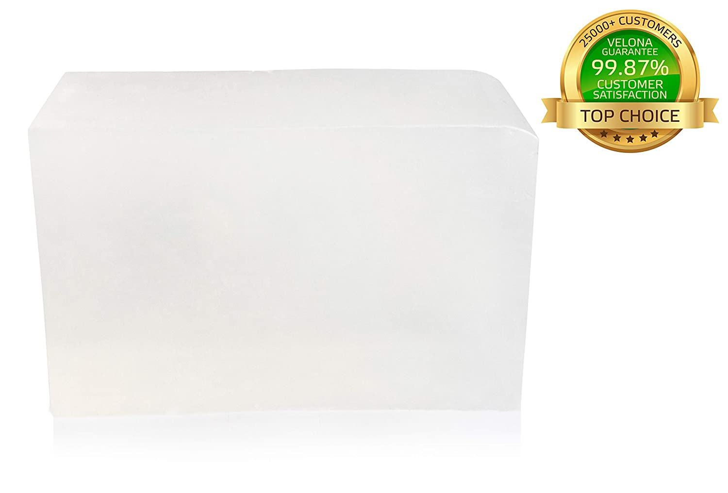 Melt /& Pure all Natural Bar For The Best Result 100/% ORGANIC ULTRA CLEAR TRANSPERENT GLYCERIN Soap Base by Velona Size 10 lb