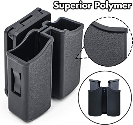 """Magazine Holder Fits Belts up to 1.5/"""" 1911 GOV DOUBLE MAG POUCH RIGHTY 1911"""