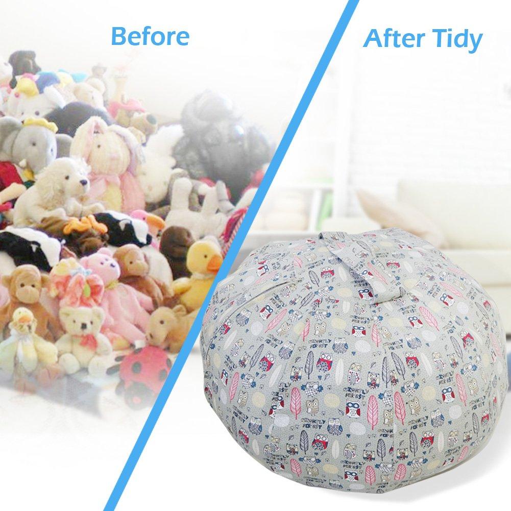 Childmate Puf de Almacenamiento con diseño de Animales, tamaño Grande, Bolsa de Almacenamiento de Tela de algodón para niños, Organizador de Juguetes, ...