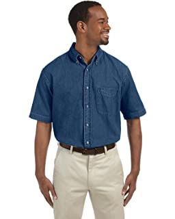 cabee170fc2 Harriton Men s Long Sleeve Denim Shirt at Amazon Men s Clothing store