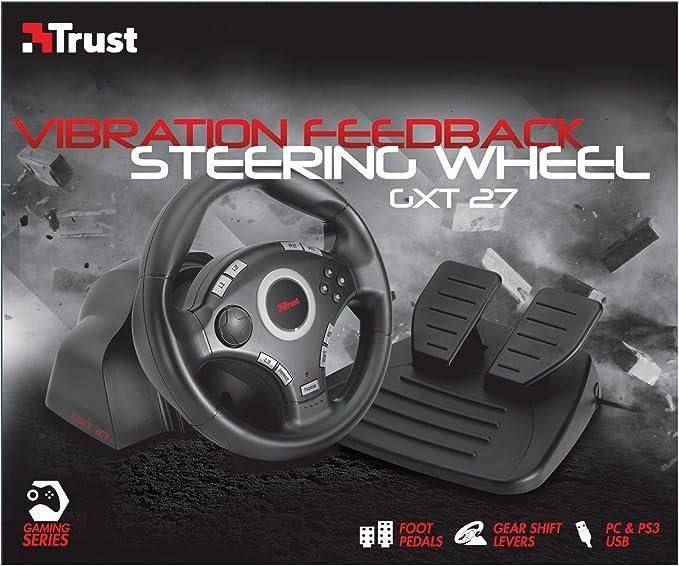 Trust GXT 27 - Volante Gaming con pedal de acelerador y freno (PS3 y PC), color negro: Amazon.es: Electrónica