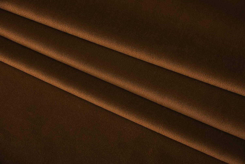 Gardinenbox Verdunkelung Fl/ächenvorhang Schiebegardine /»Milano/« Samt Blickdicht Blackout Paneelwagen Beschwerungsstange Taupe HxB 245x60 cm 203571
